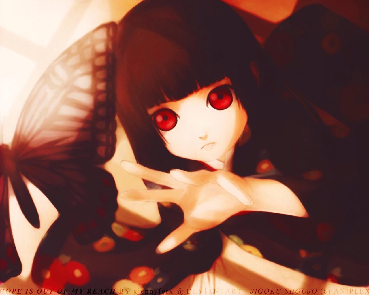 Hell Girl   Jigoku Shoujo Girl From Hell Wallpaper 3252453 1280x1024