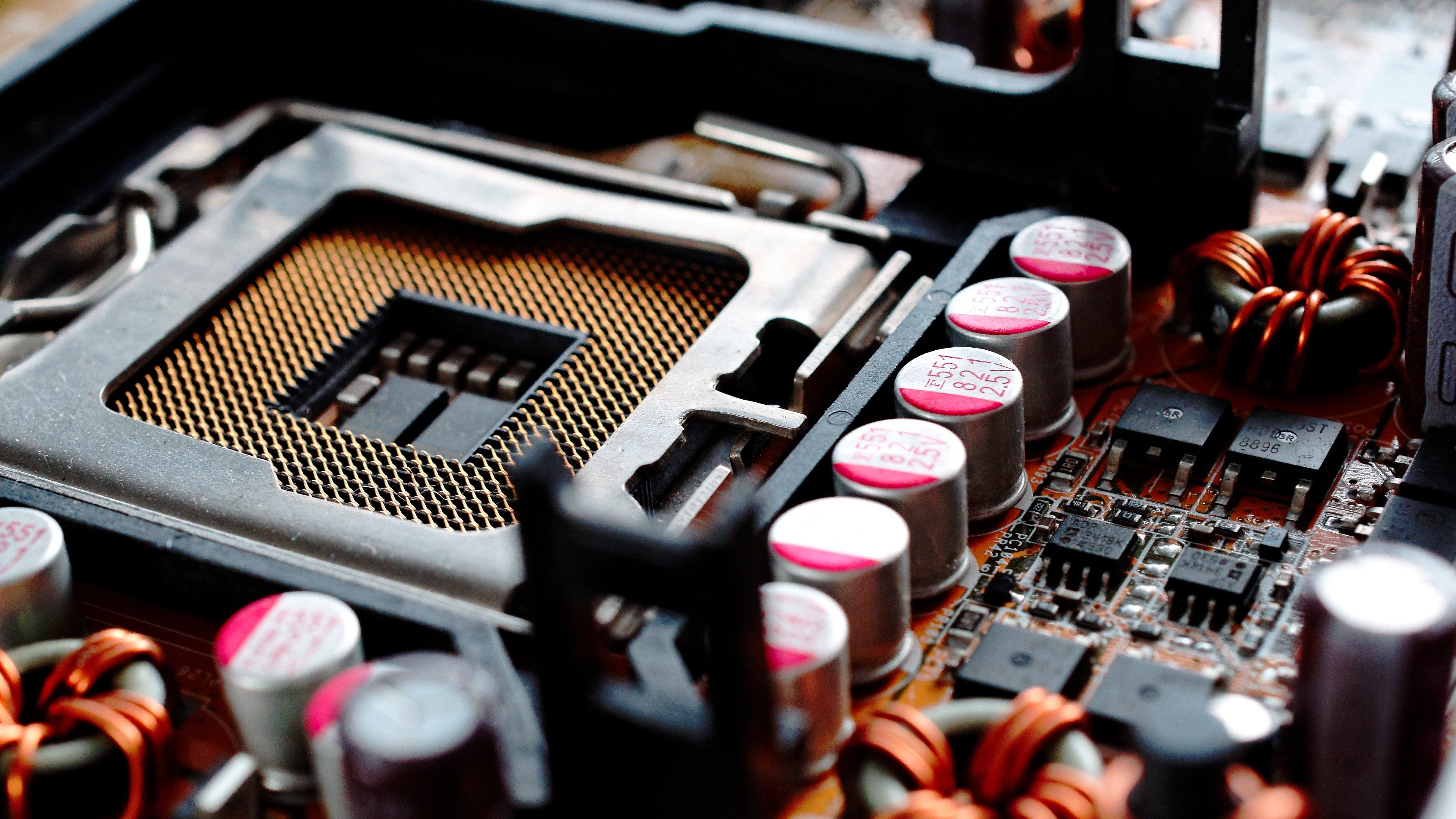 Motherboard CPU Socket Wallpaper 3840x2160