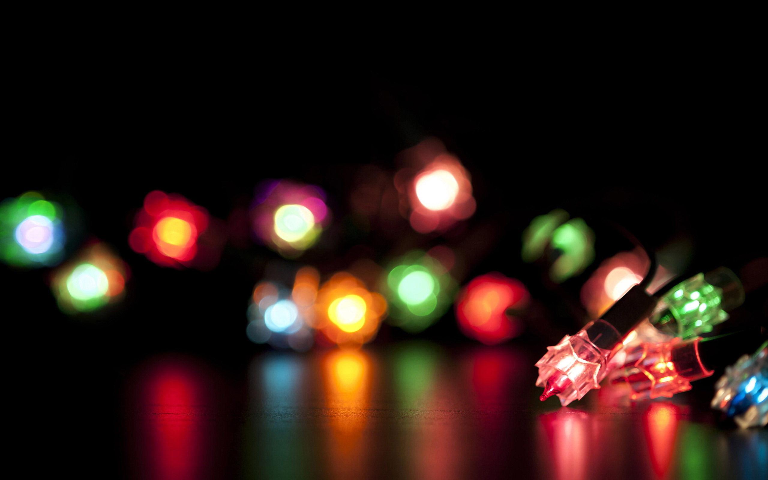 Colorful Christmas Lights computer desktop wallpapers pictures 2560x1600