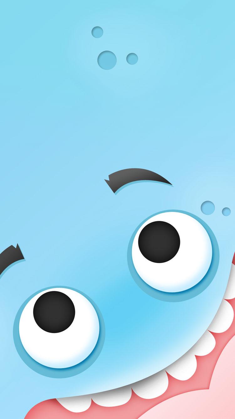 Cute Blue Cool iPhone 6 Wallpaper 750x1334