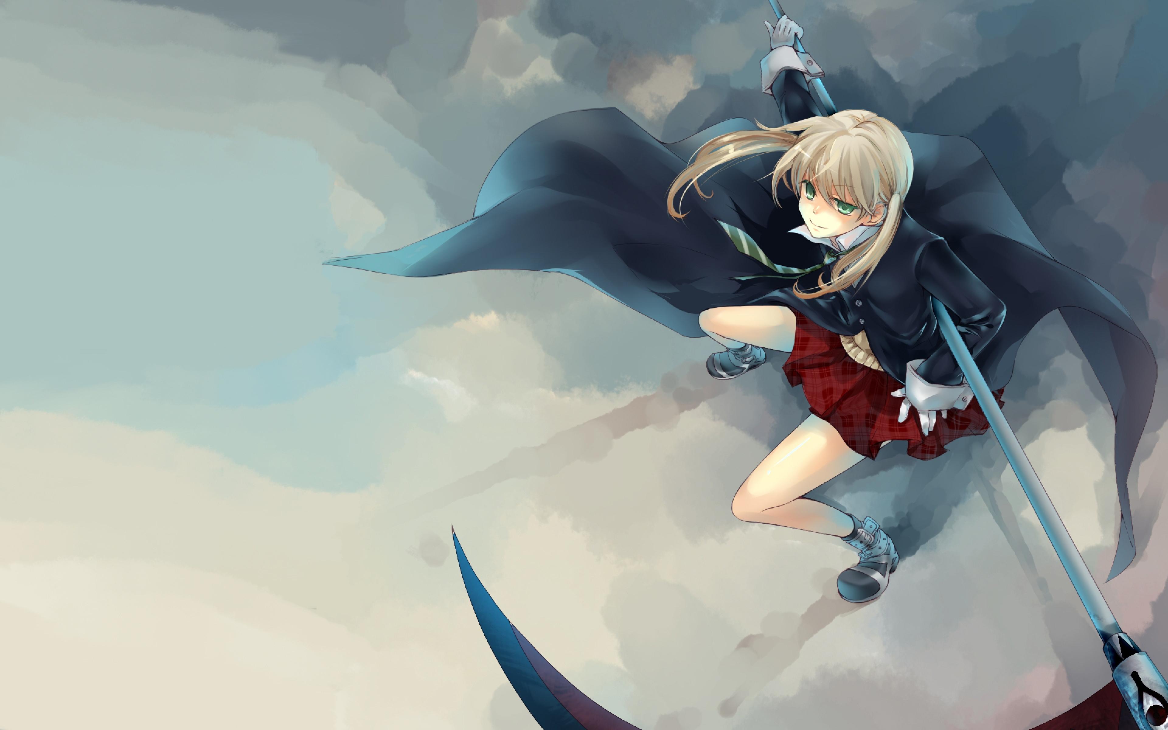 Download Wallpaper 3840x2400 Anime Girl Air Guns Coat Commitment 3840x2400