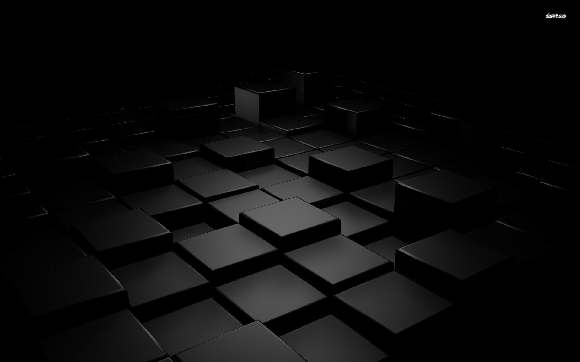 Black Cubes 3d Background wallpaper by background RevelWallpapers 1920x1200