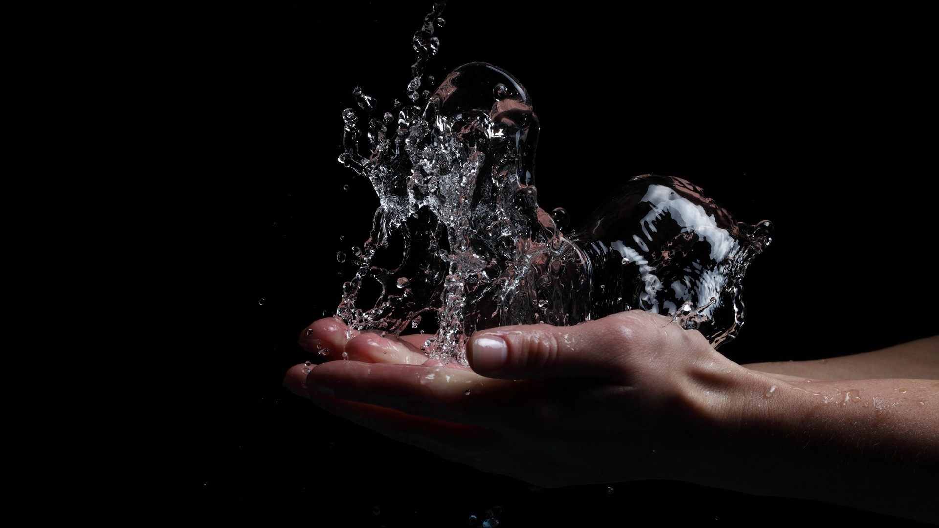 Water Abstract Wallpaper 1920x1080 Water Abstract Black Background 1920x1080