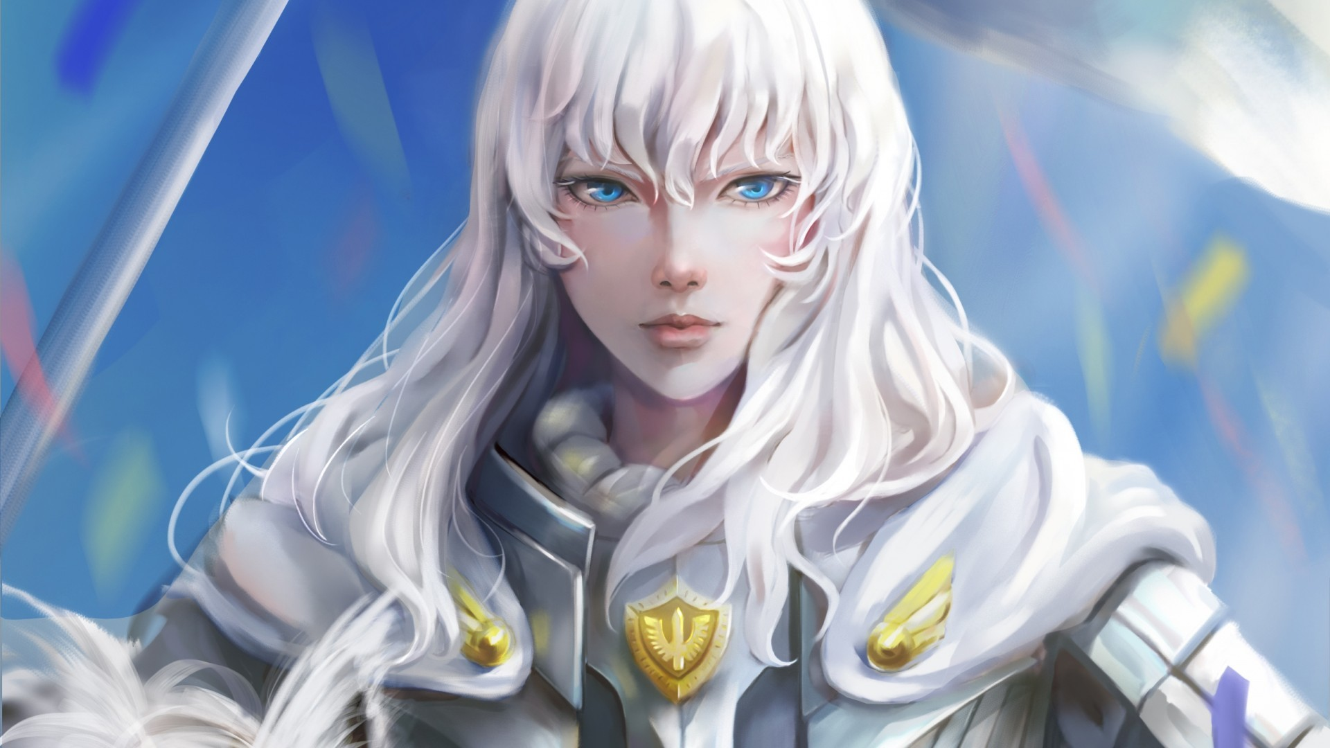 Download 1920x1080 Griffith Berserk White Hair Blue Eyes 1920x1080