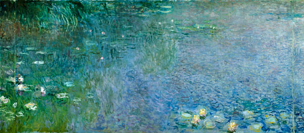 Waterlilies Morning Claude Monet As Art Print Or Hand Painted Oil 600x263