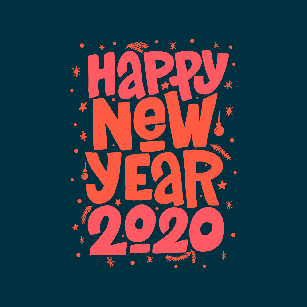 Happy New Year 2020 Wallpapers 1000x1000