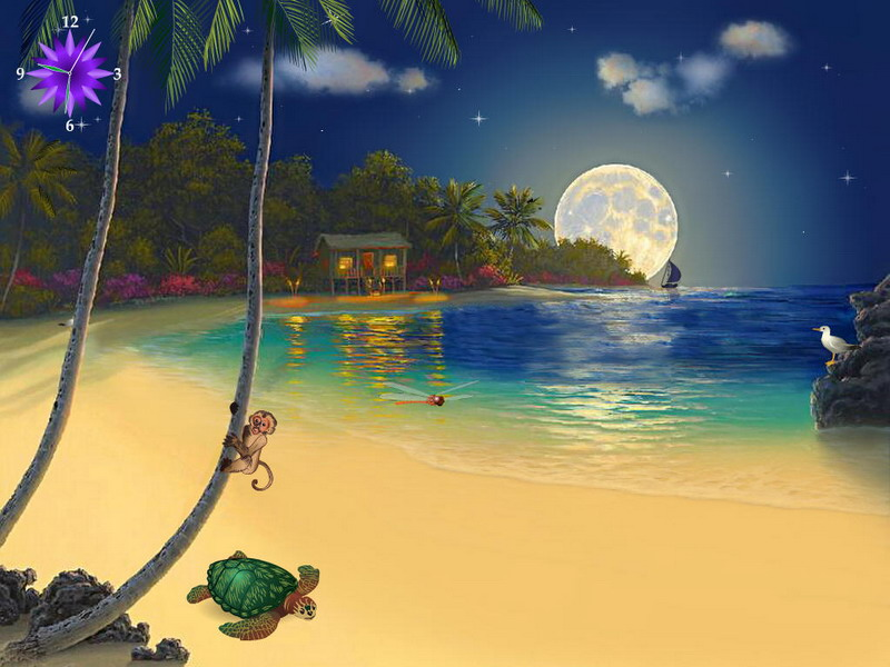Hd Tropical Island Beach Paradise Wallpapers And Backgrounds: Tropical Island Wallpaper Screensavers