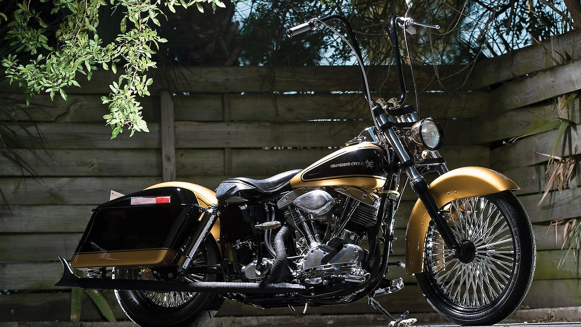 1967 Harley Davidson Shovelhead Widescreen Wallpaper   6878 1920x1080