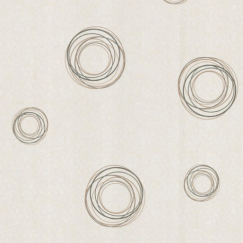 Brown Geometric Circles Wallpaper at Menards 500x500