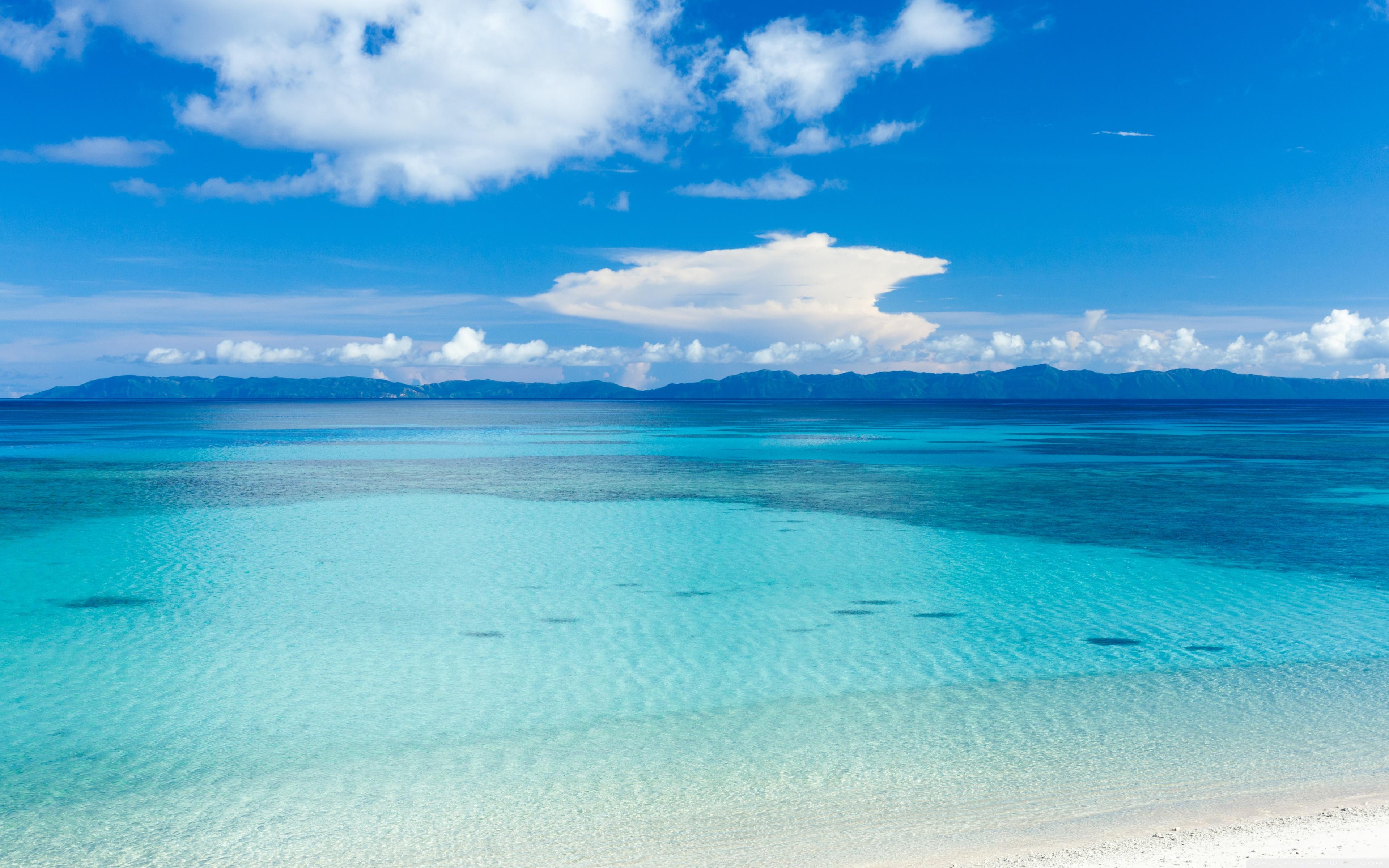 Island Beach Panoramic View 4K HD Desktop Wallpaper for 4K 3840x2400