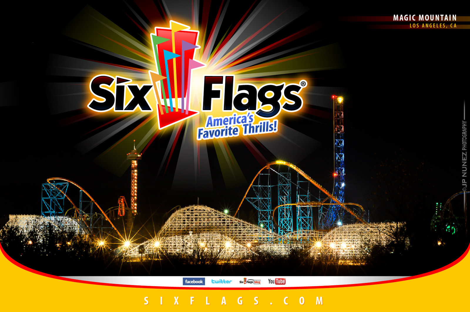 Best 51 Six Flags Wallpaper on HipWallpaper Six Flags New 1600x1063