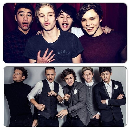 5SOS and One Direction Wallpaper - WallpaperSafari 5sos And One Direction Wallpaper