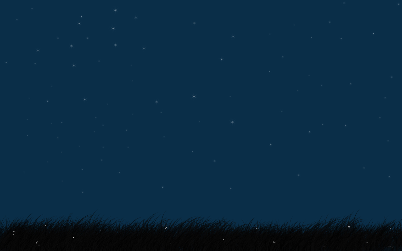 Grass and the night sky wallpaper 1680x1050