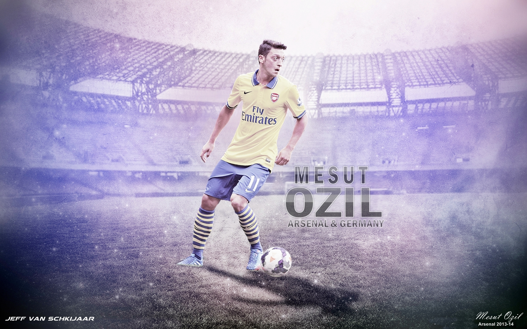 Mesut Ozil Arsenal Hd Wallpaper Best Wallpapers 1680x1050