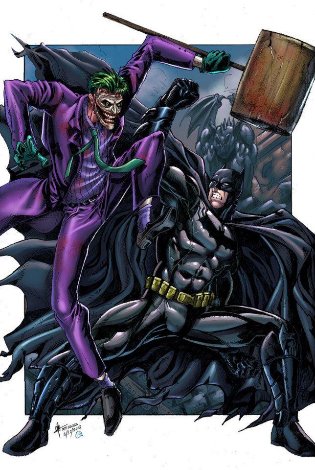 Batman VS Joker Colored by jey2dworld 644x960