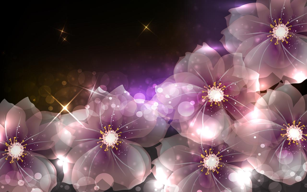 Free Download Glowing Flowers Live Wallpaper Is The Most