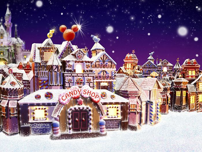 Gingerbread house wallpaper wallpapersafari - Christmas village wallpaper widescreen ...