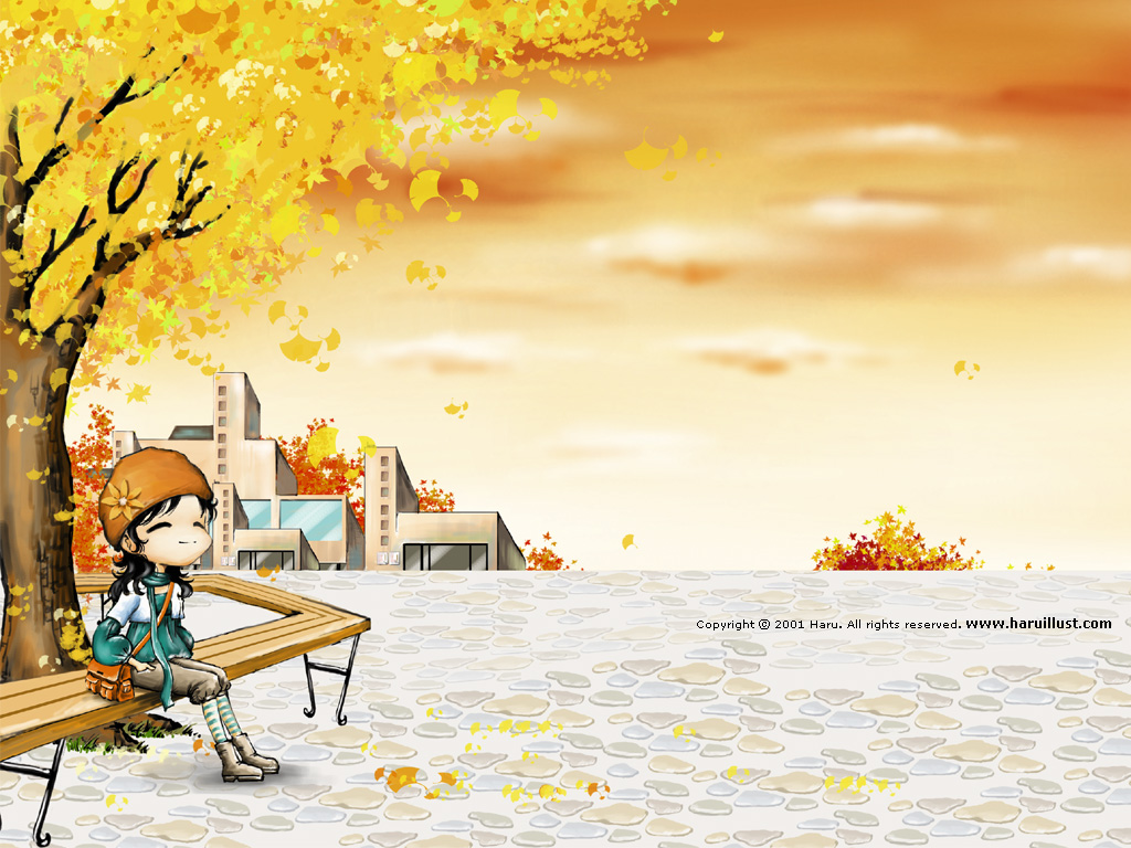 Free Download Picture Painting South Korea Cartoon Couple