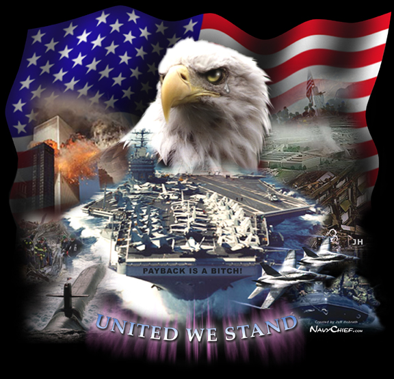 Patriotic collage of pictures oriented towards 911 and the military 576x554