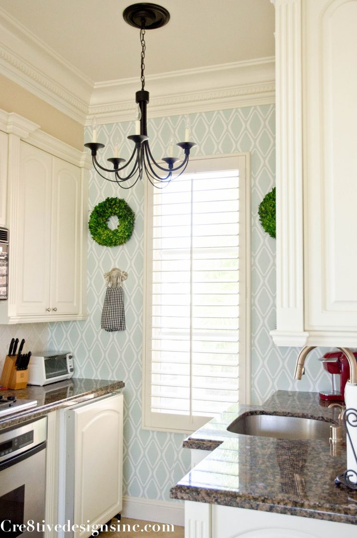 Kitchen with removable wallpaper devinecolor target 736x1110