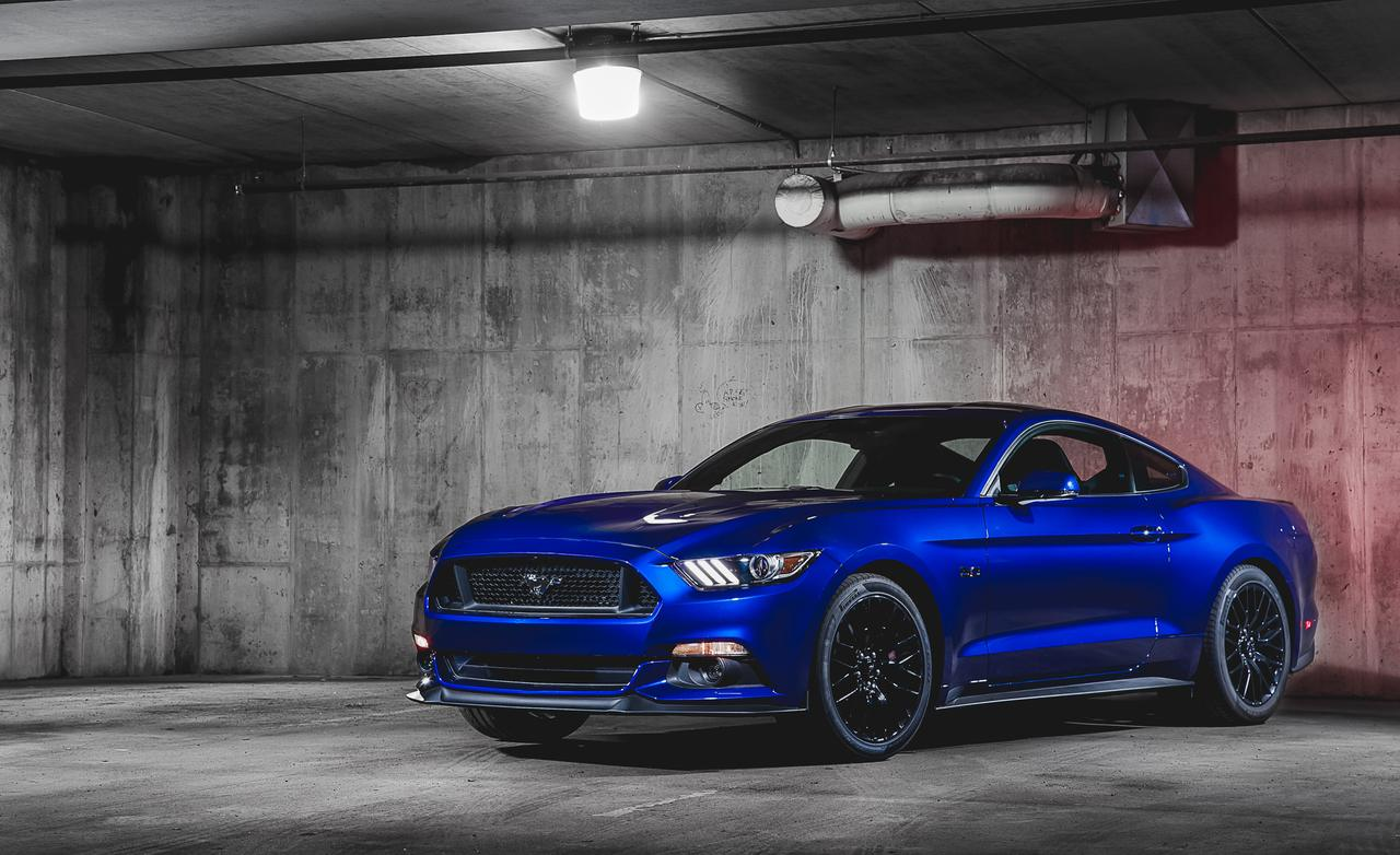 2015 Ford Mustang GT Blue ford mustang 2015 wallpaper 1280x782