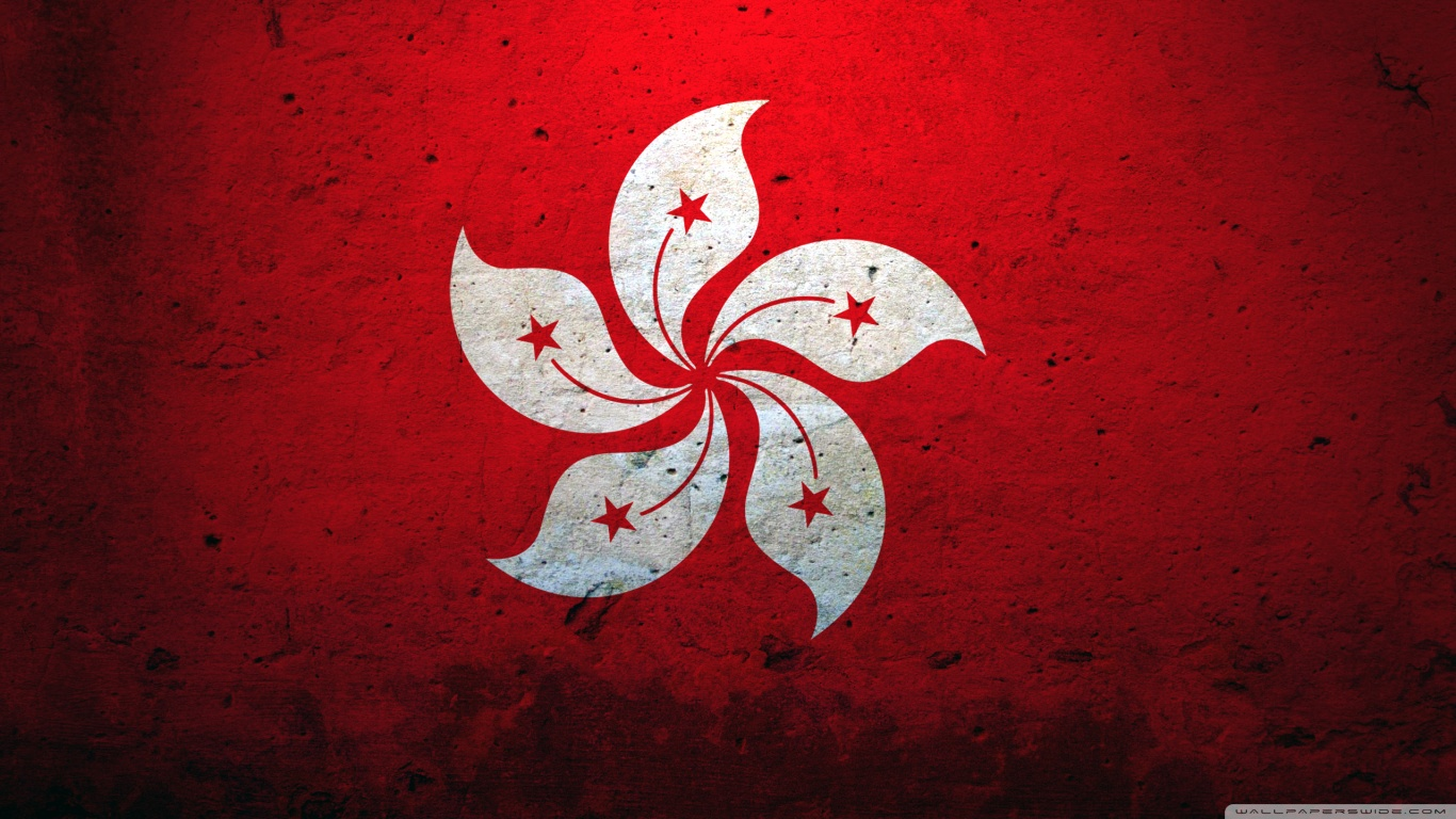 Hong Kong China Flag 4K HD Desktop Wallpaper for 4K Ultra HD TV 1366x768