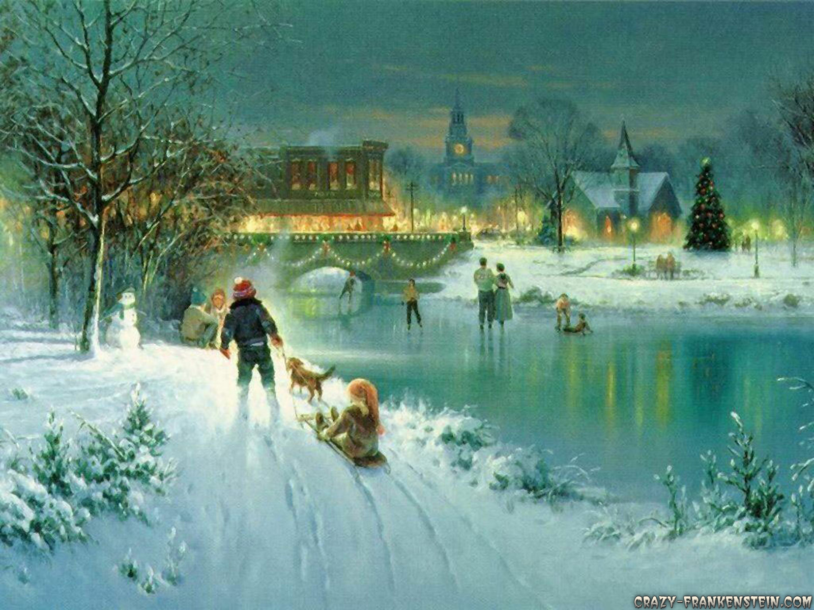 Christmas Snow Scene Wallpaper   Viewing Gallery 1600x1200