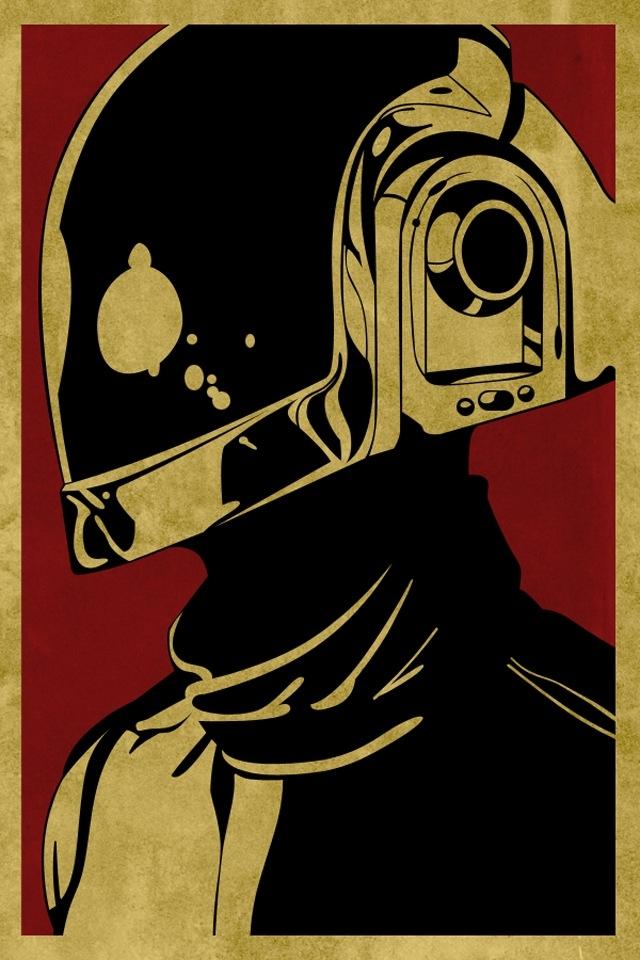 Obey Daft Punk iPhone HD Wallpaper iPhone HD Wallpaper download 640x960