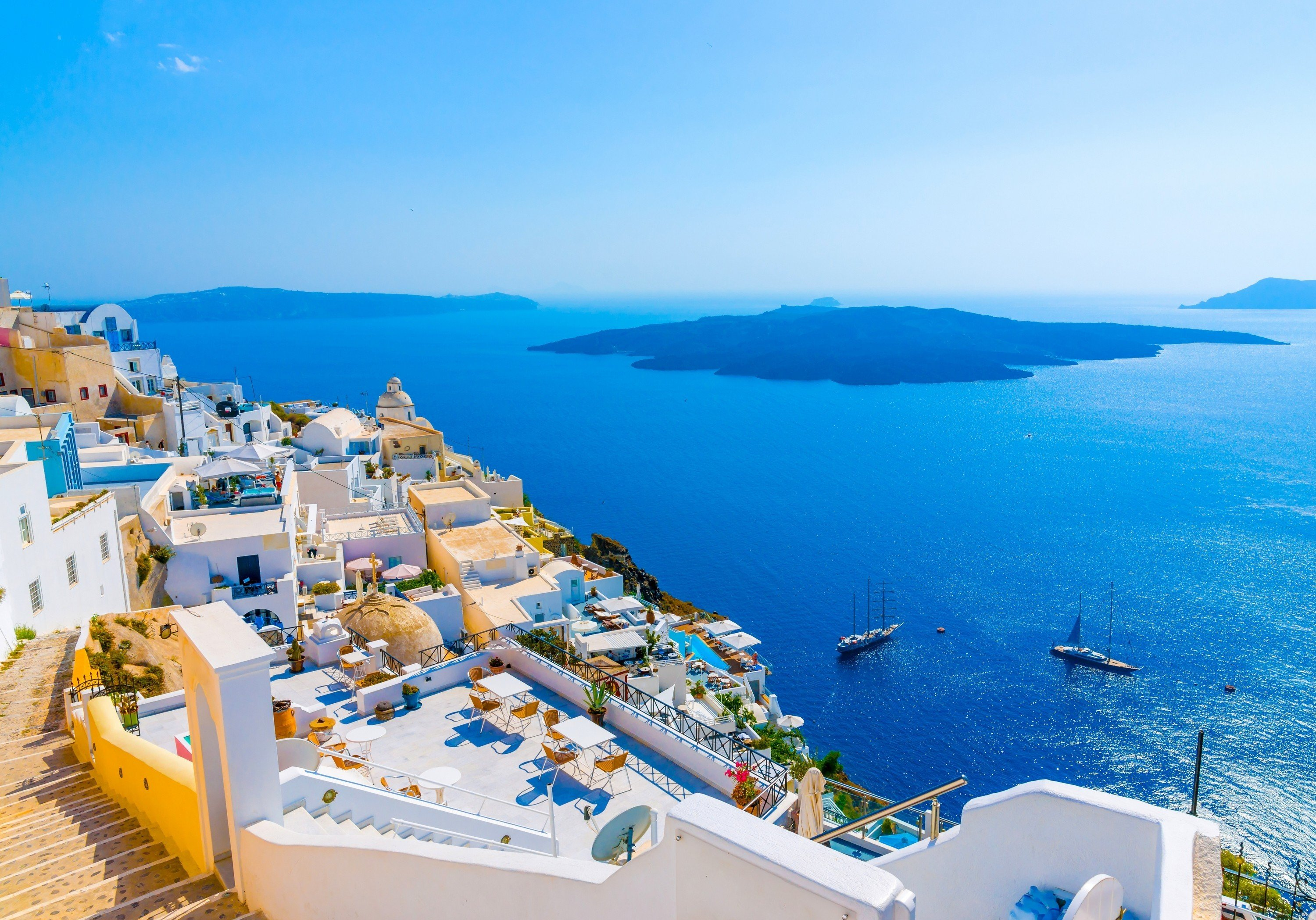 62 Santorini HD Wallpapers Background Images 3000x2097