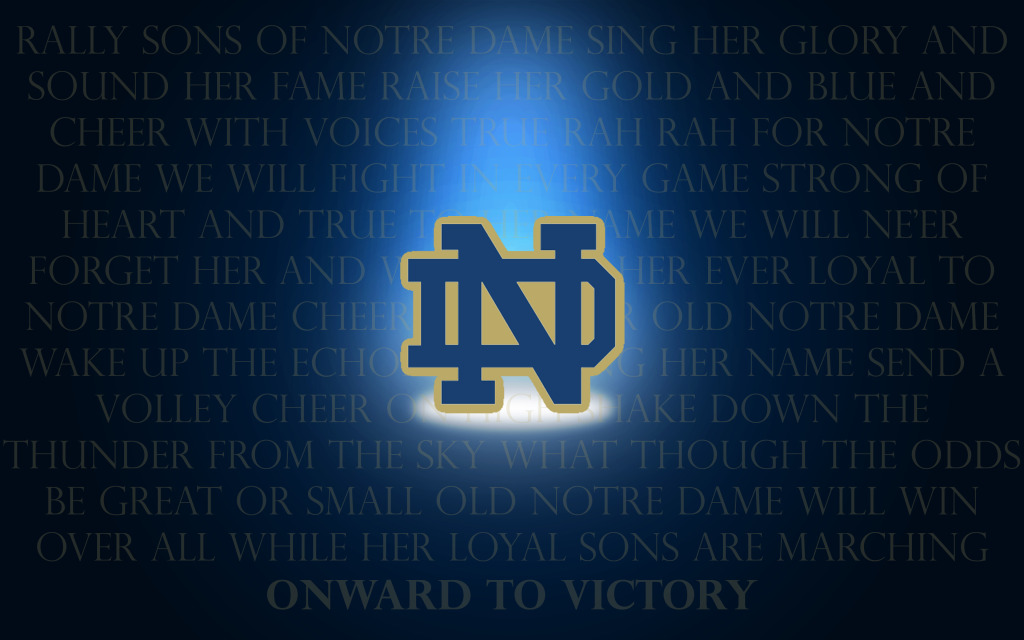 few new desktop backgrounds   Irish Envy Notre Dame Football 1024x640