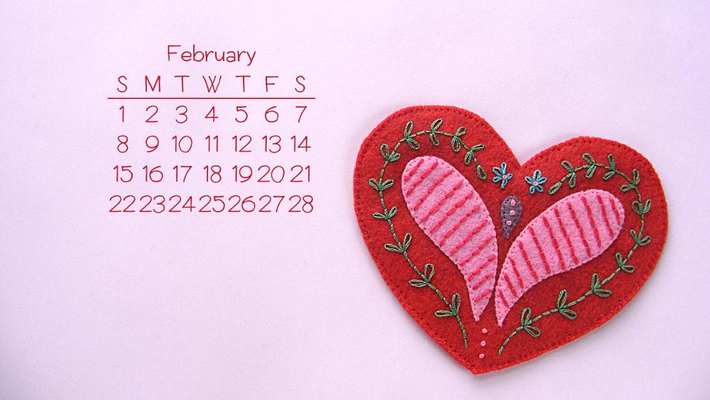 desktop Wallpaper for February from Shiny Happy World 1000x563