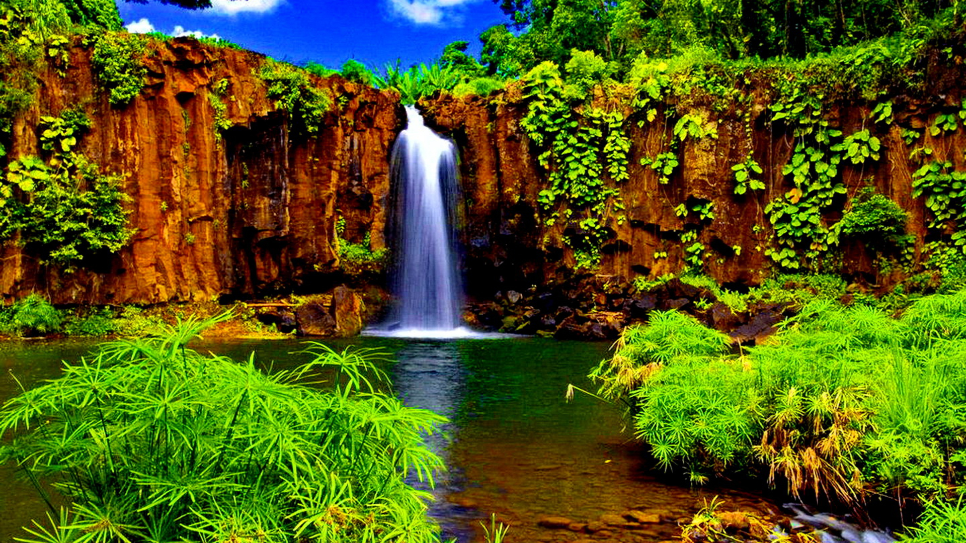 1920x1080 Hd Wallpapers Waterfall: Tropical Desktop Wallpaper 1920x1080