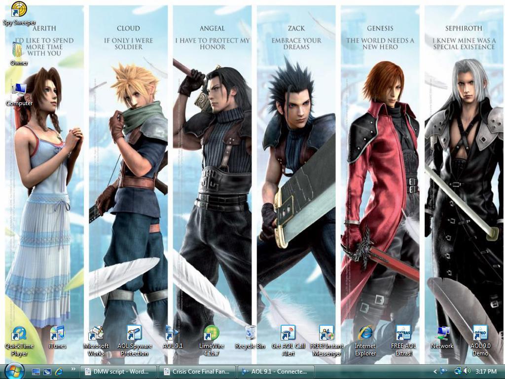 final fantasy 7 crisis core   Final Fantasy VII Wallpaper 6973714 1024x768