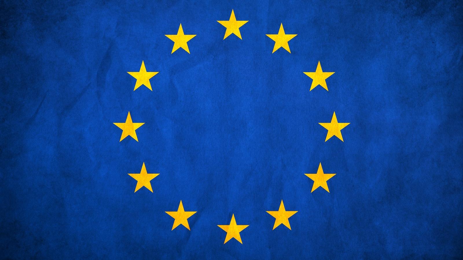 Download wallpaper 1600x900 european union flag stars europe 1600x900