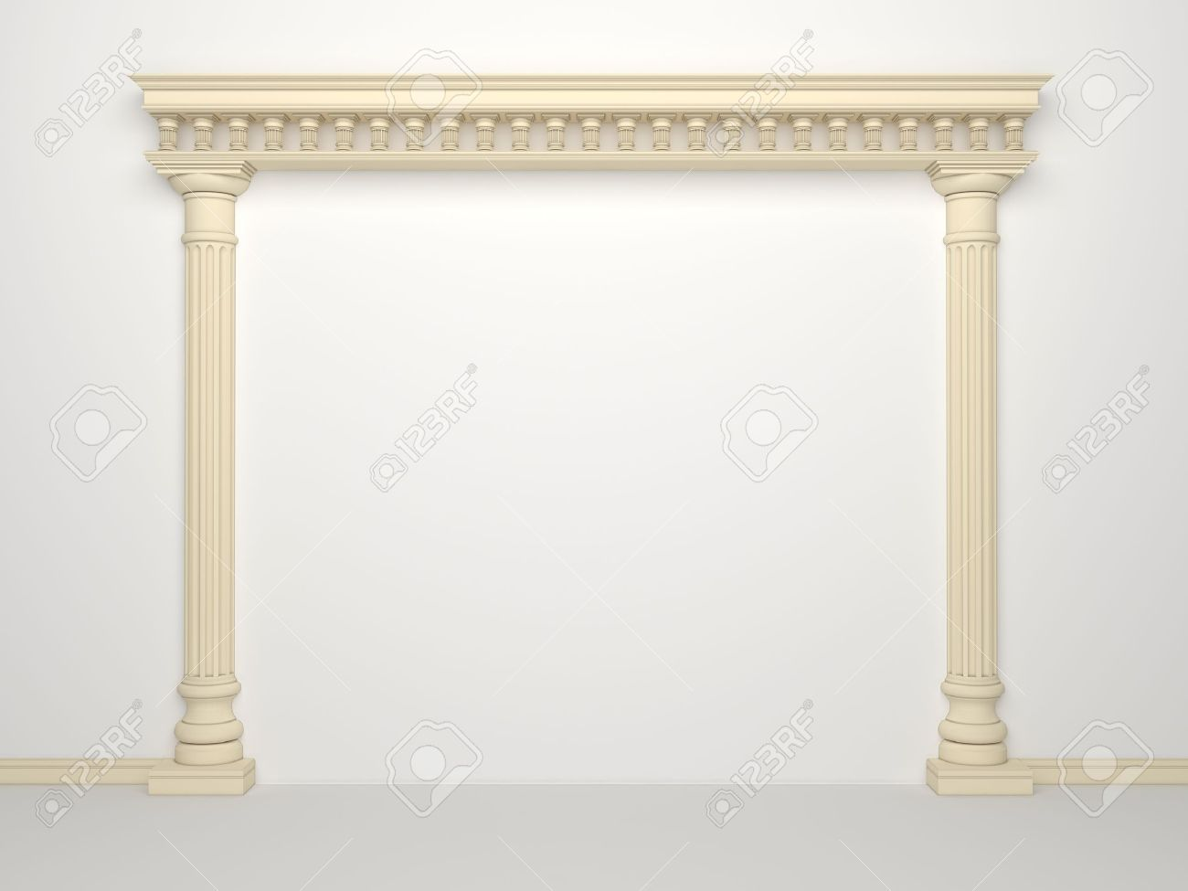 Classical Portal With Columns On A White Background Stock Photo 1300x975