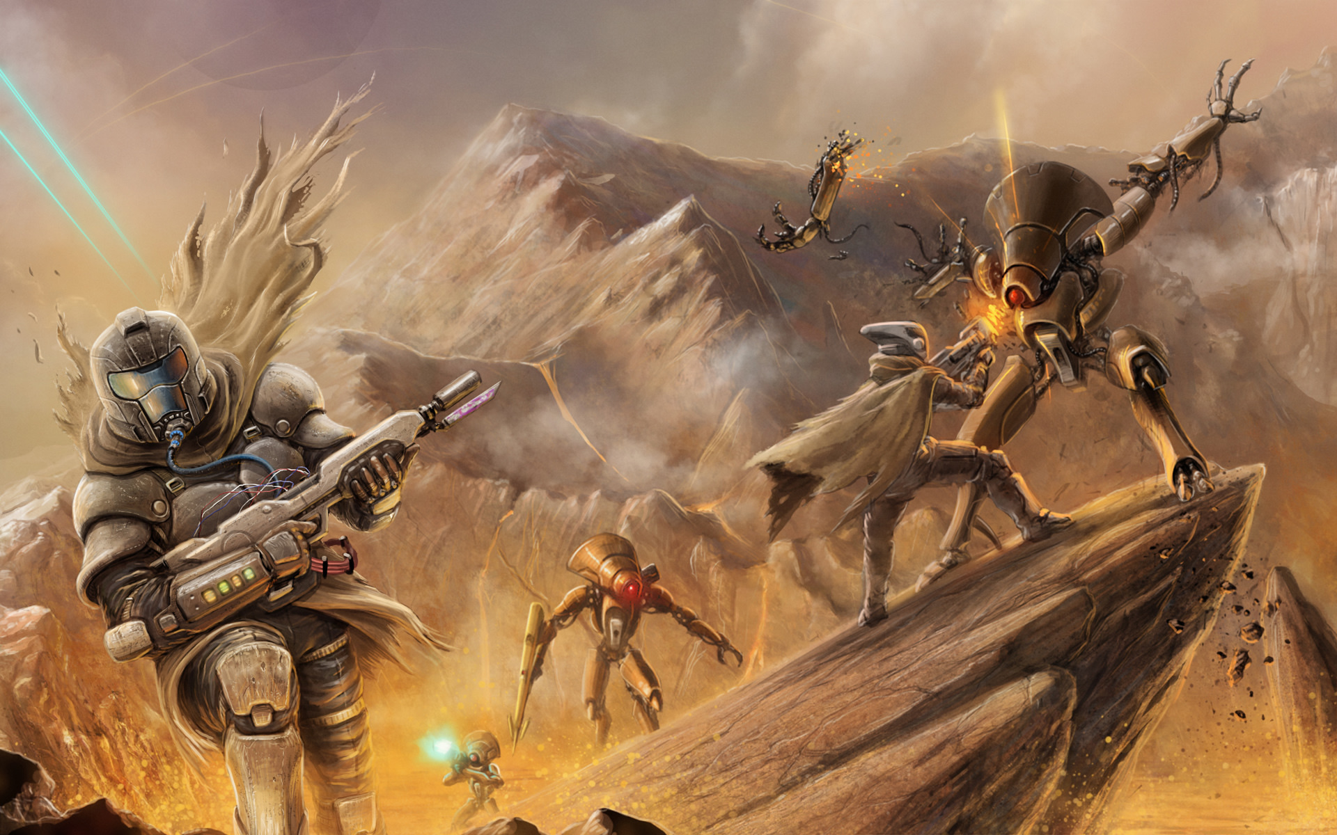 fi weapons battle monsters creature robot mecha wallpaper background 1920x1200