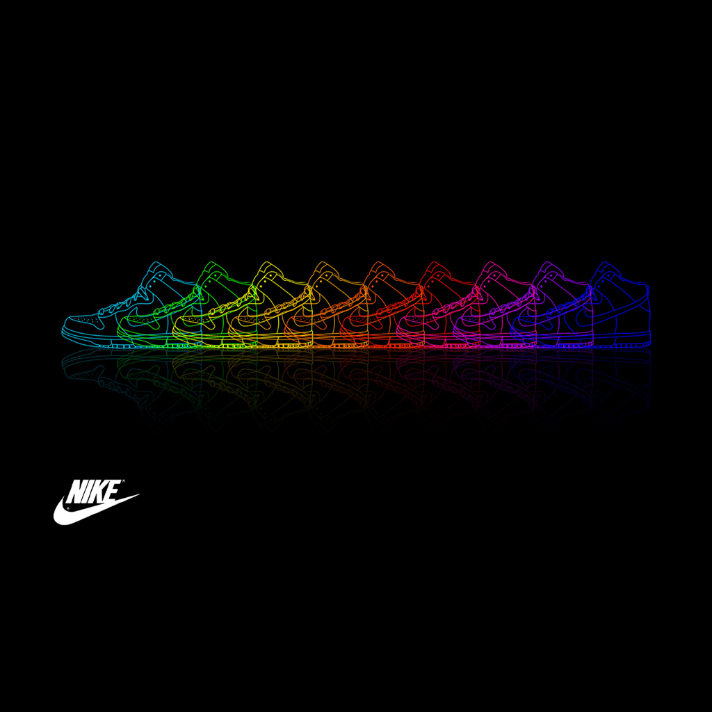 Free Download Nike Shoe Rainbow Ipad Wallpaper Ipadflavacom