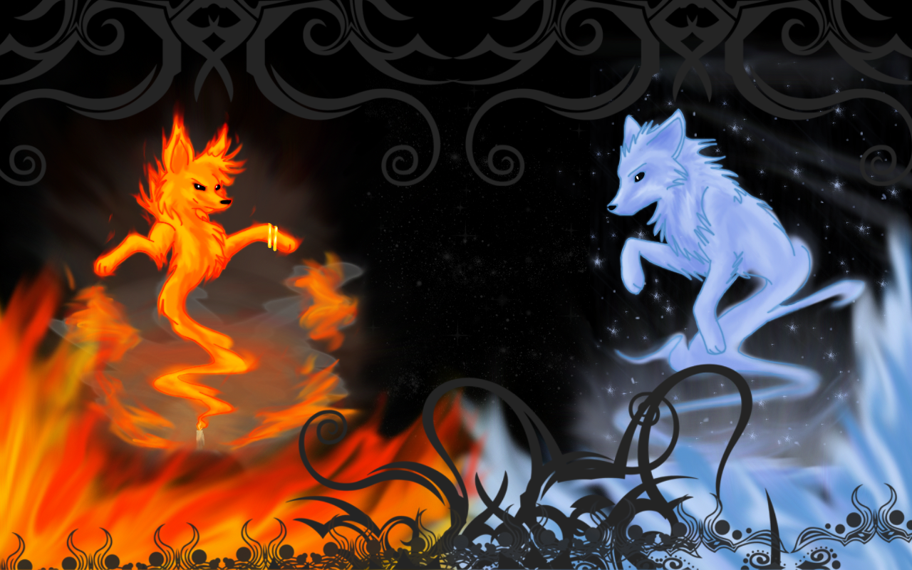 Fire and Ice Wallpaper - WallpaperSafari