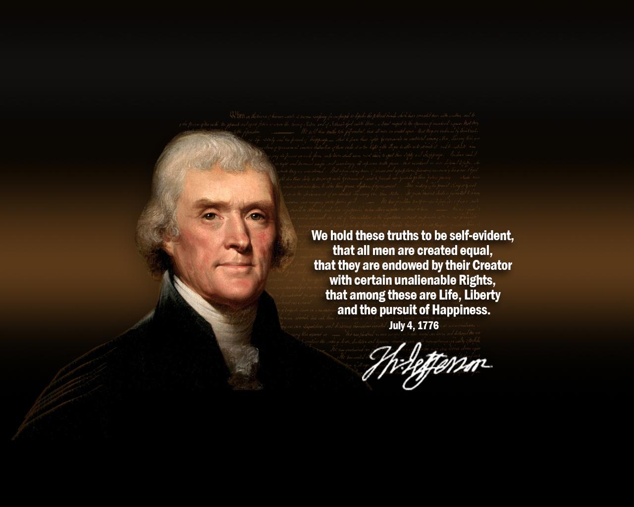 jefferson quote declaration wallpaperjpg 1280x1024