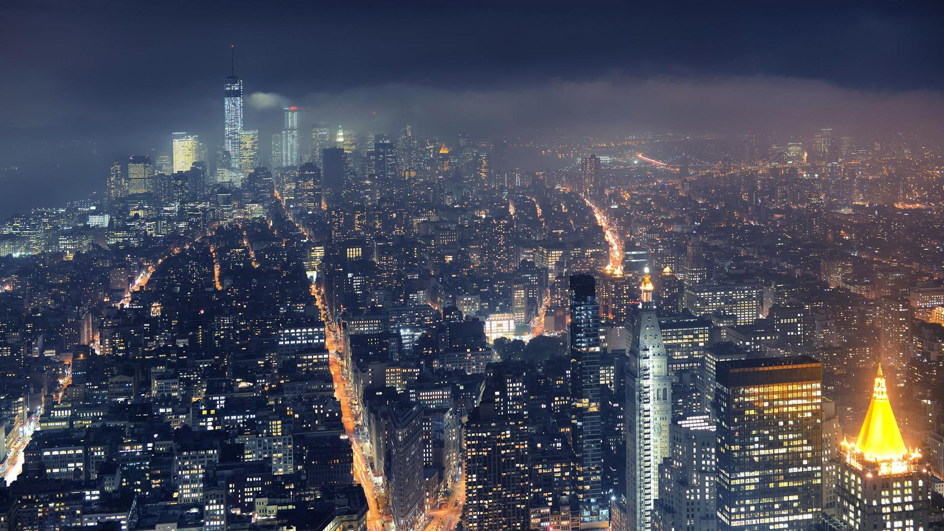 York New New york at night World City USA HD Wallpapers 3840x2160