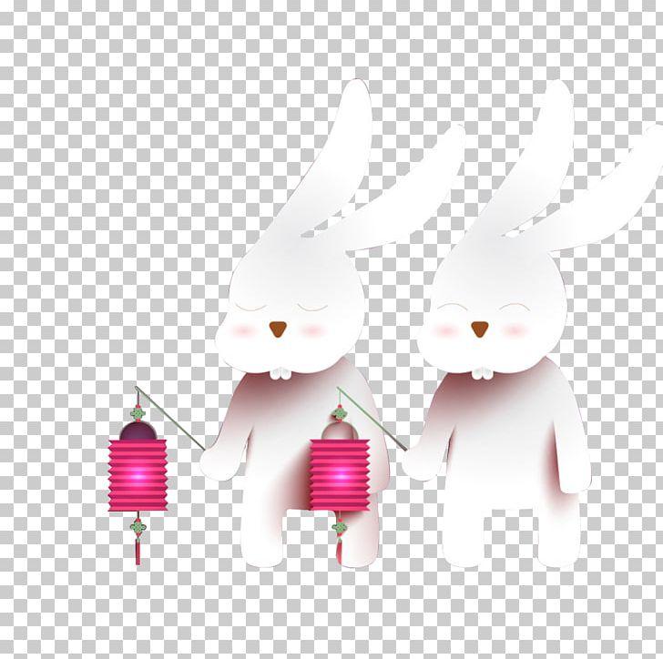Mid Autumn Festival Moon Rabbit Lantern Change PNG Clipart 728x724