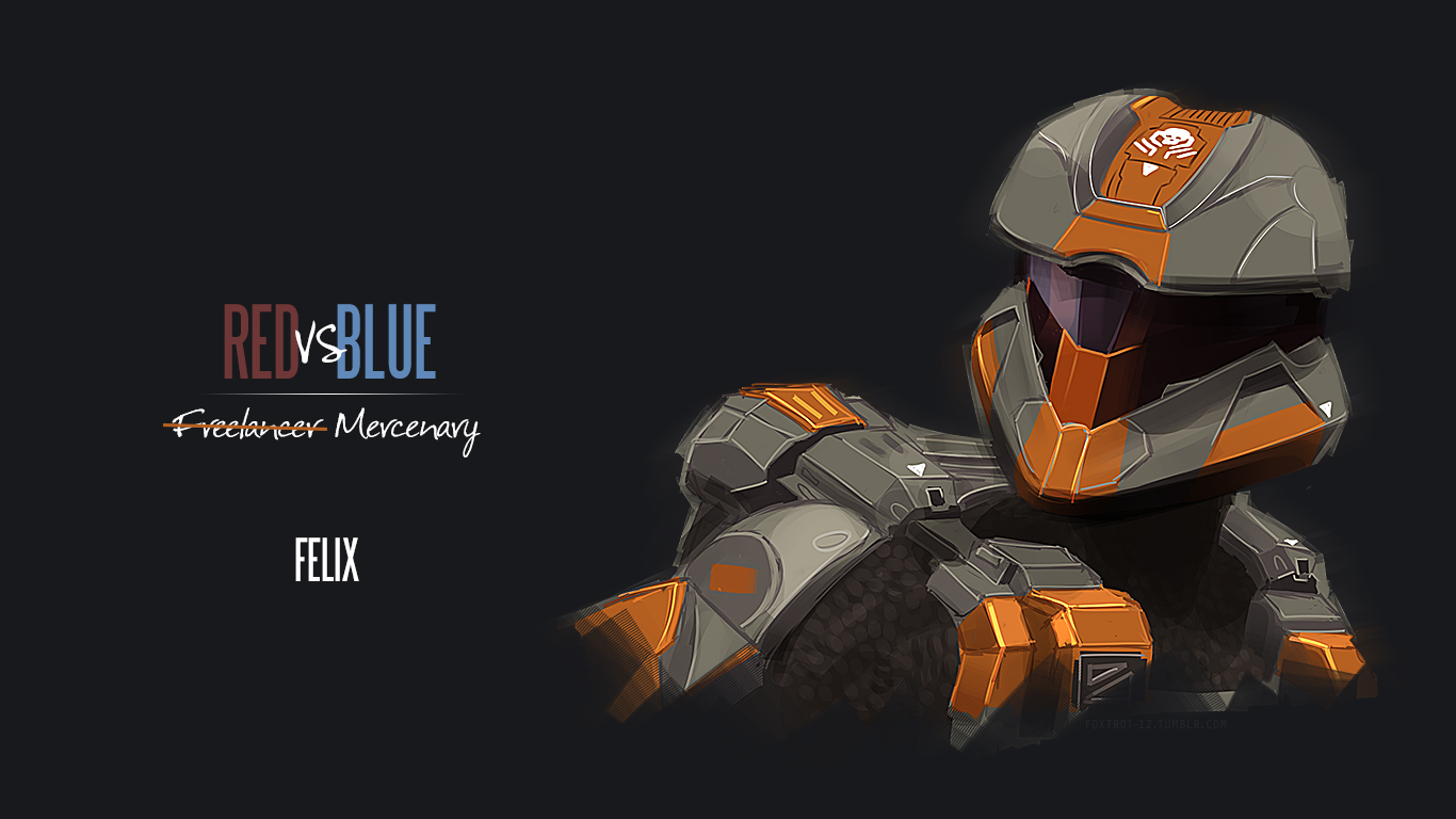 rvb fanart wallpapers Rooster Teeth 1366x768