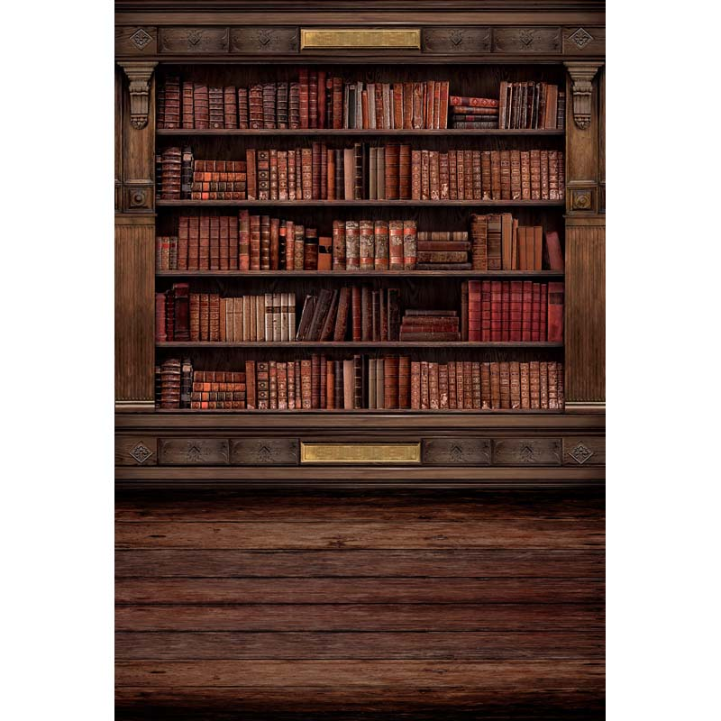 toile de fond studio photo Retro Background Bookshelf Props 800x800