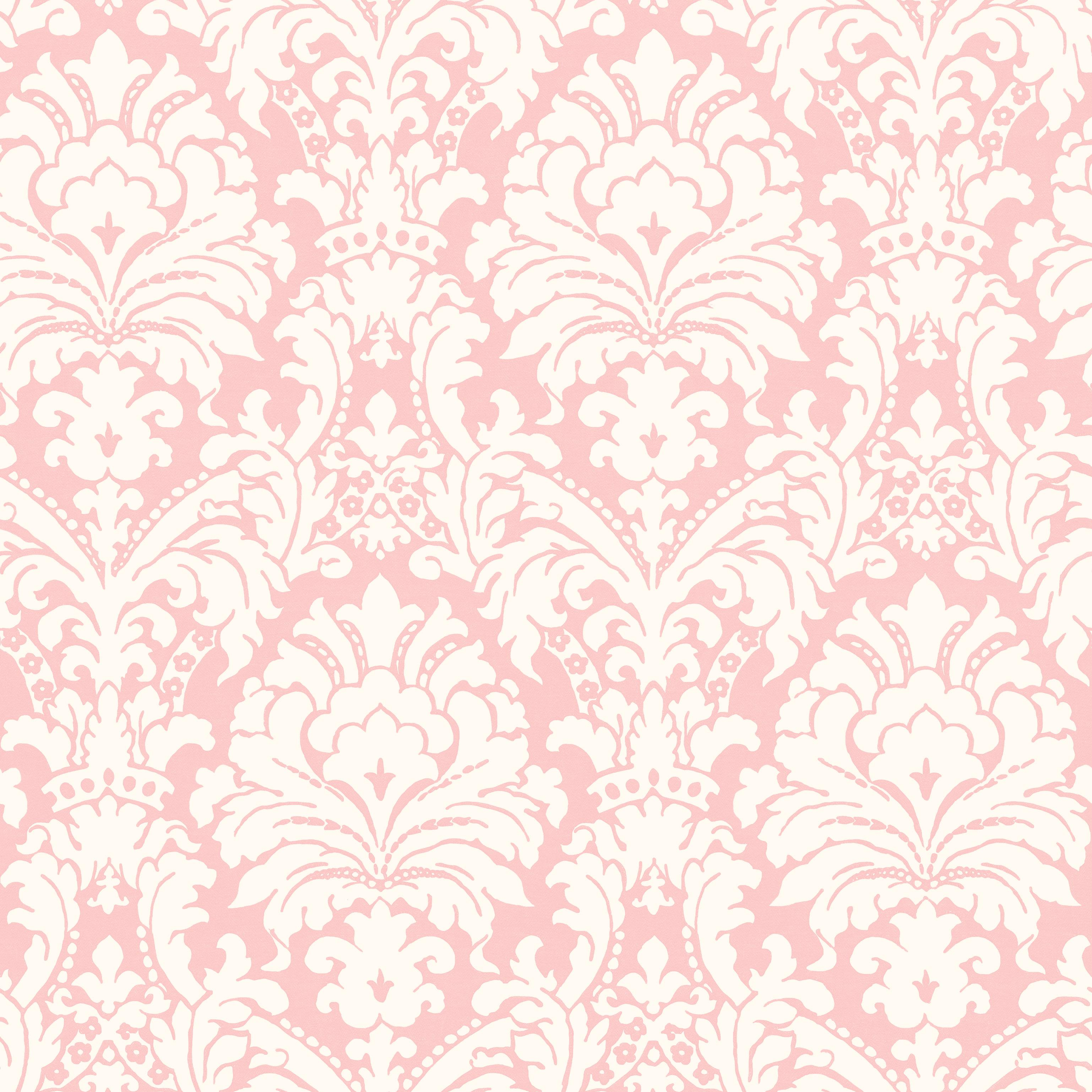 Brewster Wallcovering Ginger Pink Brocade Damask Wallpaper Cherry 3075x3075