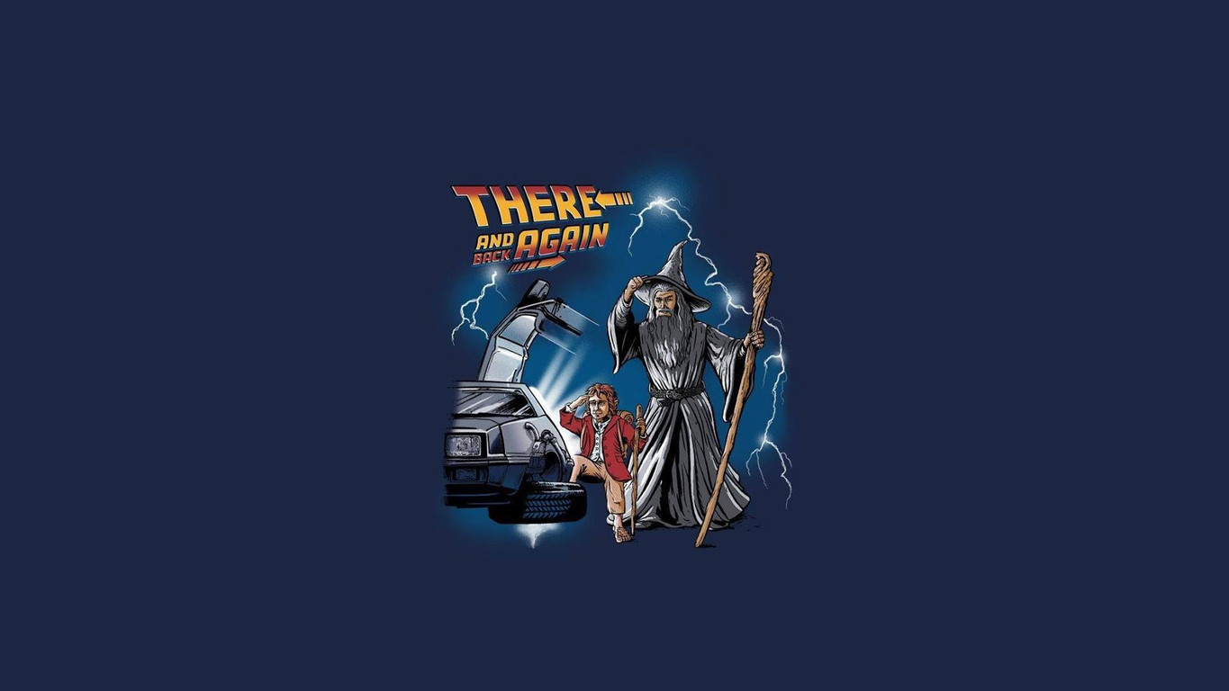 Download The Lord of The Rings Back to the Future crossover wallpaper 1365x768