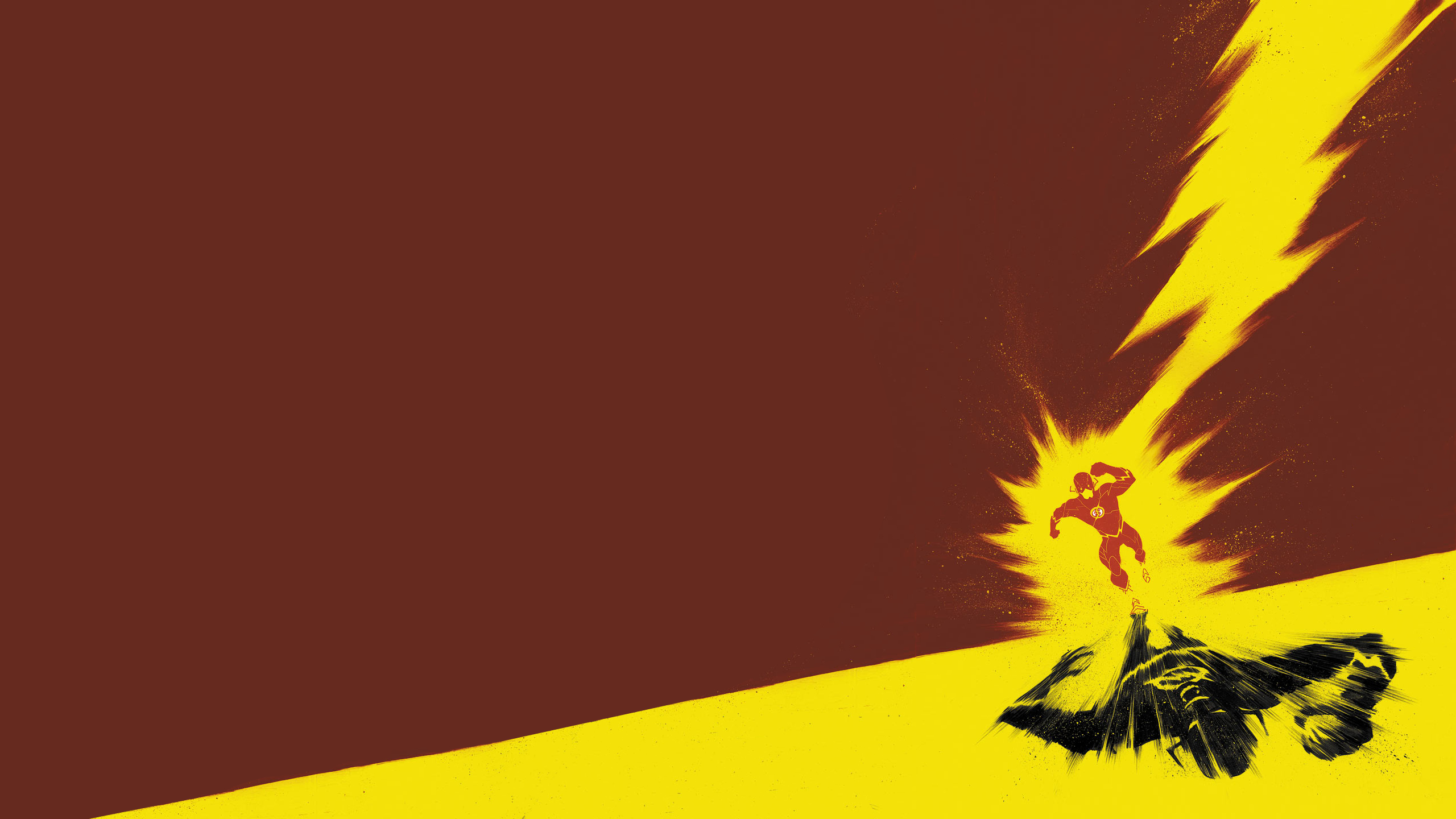 wallpaper superheroe flash minimalista 2560x1440