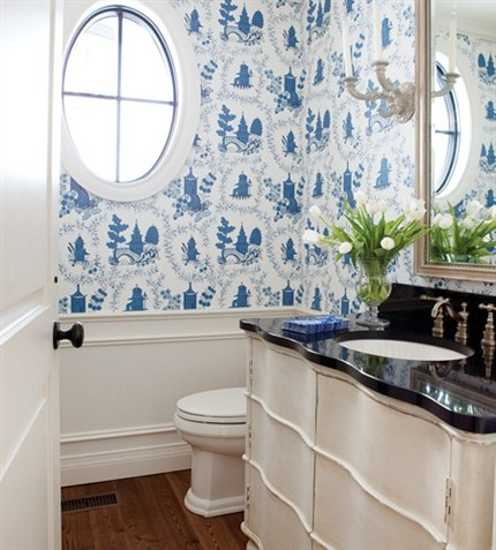 White and blue bathroom wallpaper sconces in vintage style white 496x550