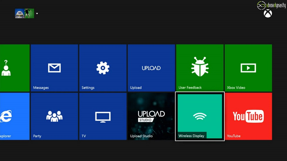Download Xbox One Dashboard Wireless Display Screenshots zur