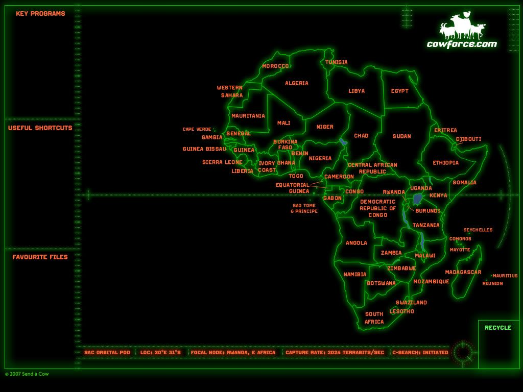 Africa Map Wallpapers 1024x768