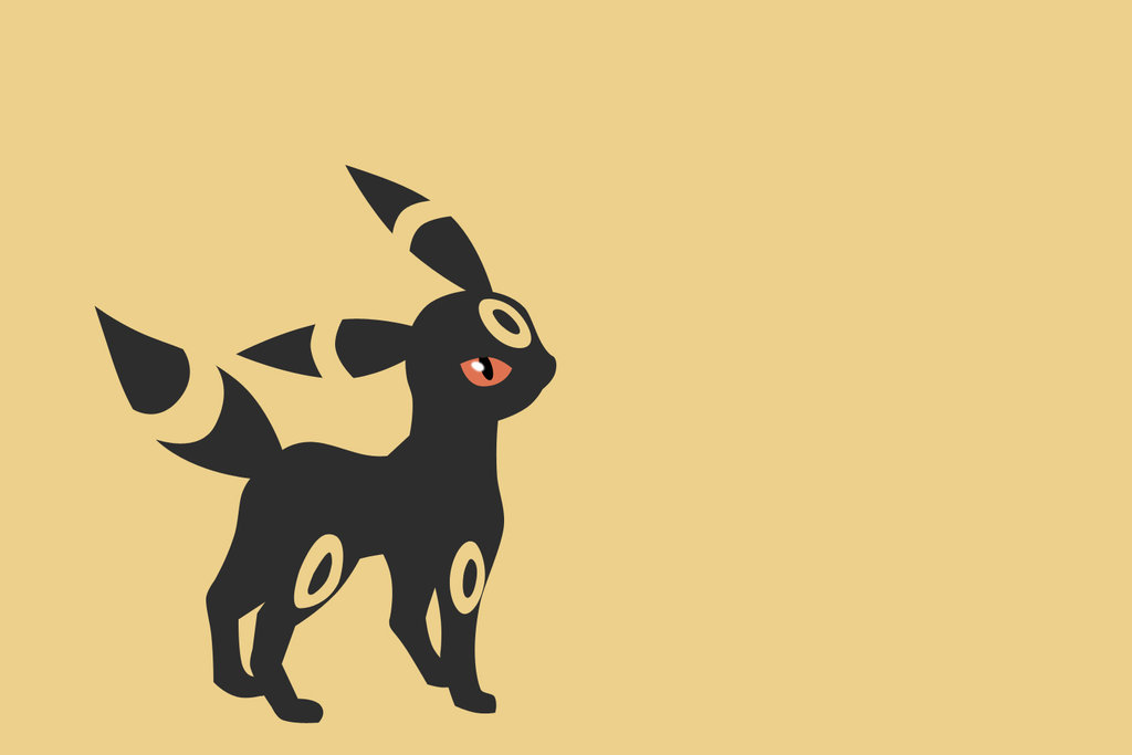 Umbreon Minimalist Wallpaper 2 by IJSJ 1024x683